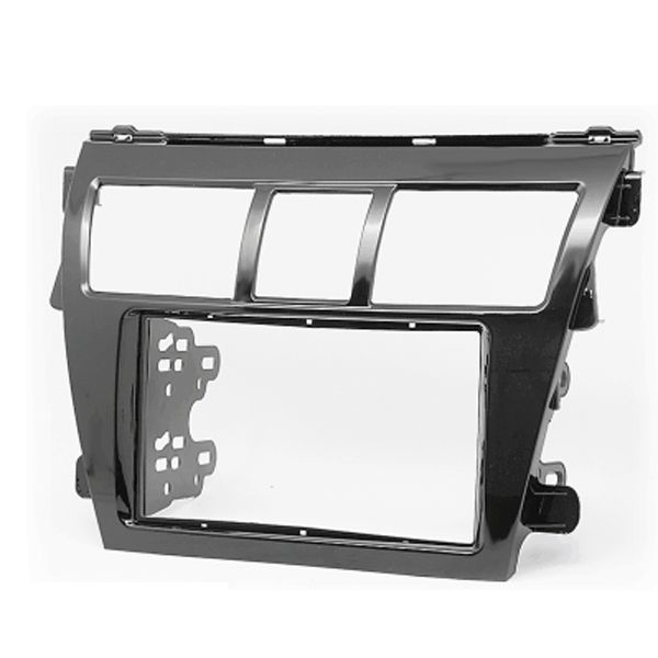 Piano Black Car CD Stereo Fitting Kit Fascia Surround Panel Adapter for TOYOTA Vios Belta Yaris Sedan