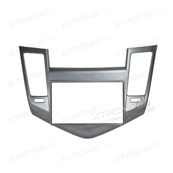 Silver Double Din Fascia Facia Adaptor Panel Surround for CHEVROLET Cruze 2009-2012