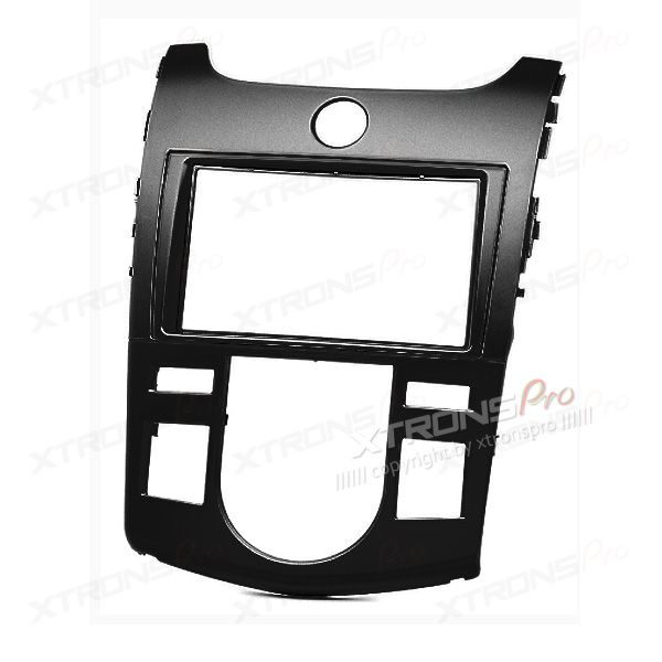 KIA with Auto Air-Conditioning Double Din Stereo Black Fitting Kit Facia Adaptor Fascia Panel