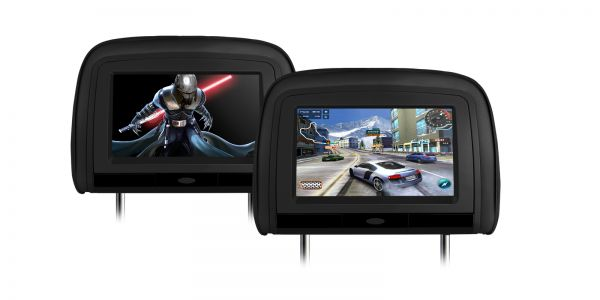"""Xtrons HD909 2 x 9"""" In Car Headrest DVD Players with HDMI Input"""