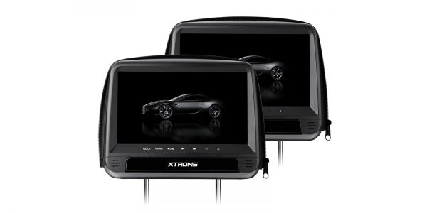 Car Headrest DVD Players with Zipper Design