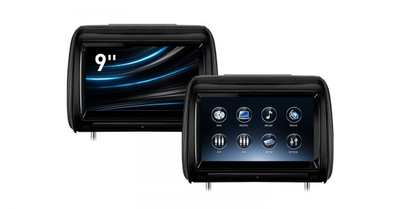 9-inch Touch Screen | One Pair Car Headrest DVD Player | HD928TBD
