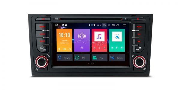 """Android 8.0 Octa Core 4GB RAM + 32GB ROM Multimedia DVD Player with 7"""" Display Custom Fit for Audi A6 