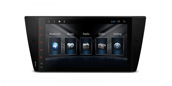 """9"""" Android 7.1 Quad-Core DDR3 1GB RAM + 16GB ROM Multimedia HD Touch Screen Car Stereo Custom Fit for BMW"""