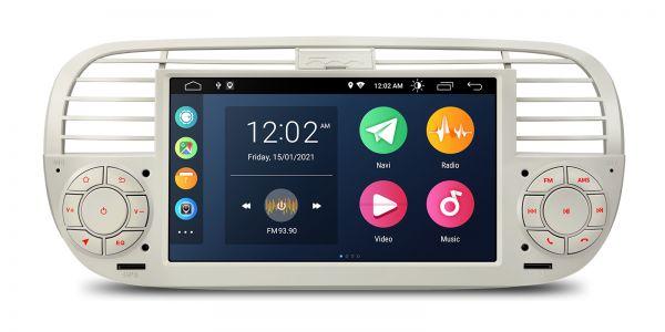 Fiat | 500 | Android 10 | Quad Core | 2GB RAM & 32GB ROM | PSA7050FL_C