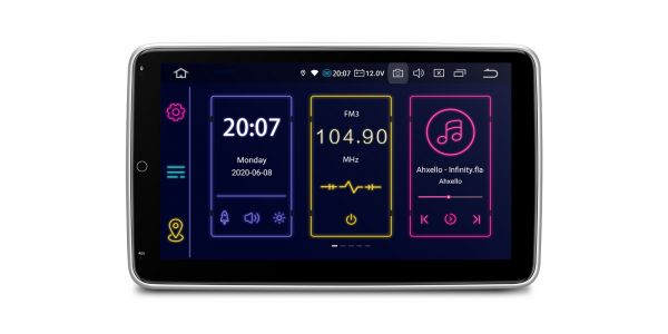 Double Din | Android 10 | Octa Core | 4GB RAM & 64GB ROM | Rotatable Screen | TIB110LN