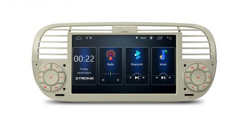 Fiat | 500 | Built-in DSP |Android 10 | 2GB RAM & 16GB ROM | PSD7050FL_C