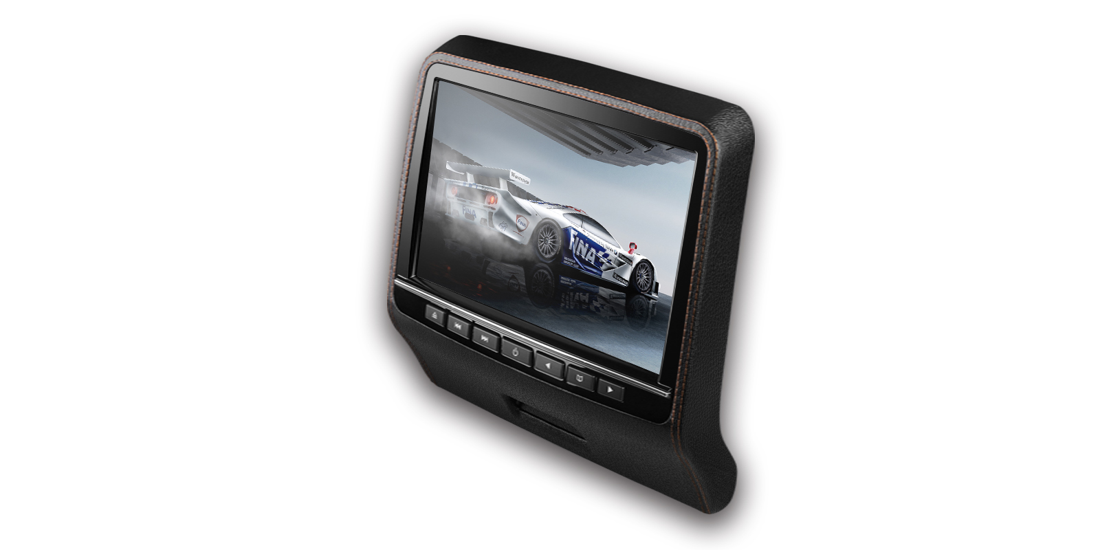 9 Hd Digital Tft Screen Leather Styled Car Headrest Dvd Player With Nissan Monitor Wiring Harness Prevnext