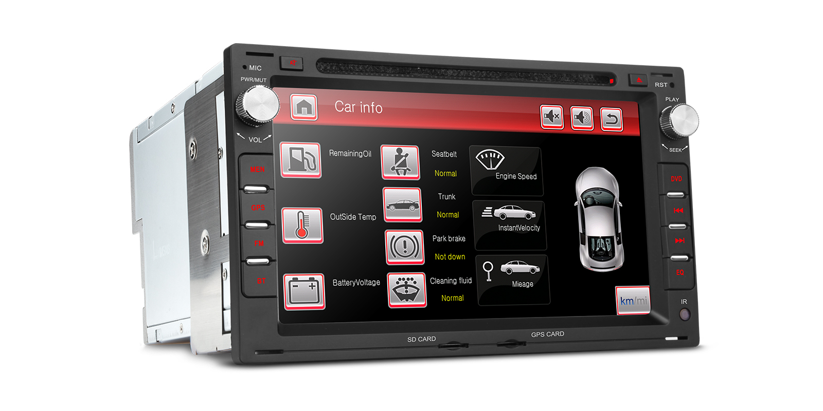 7 Hd Digital Touch Screen Dual Canbus Gps Navigator Car Dvd Player Vauxhall Can Bus Wiring Prevnext