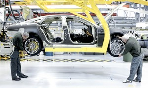 car being manufactured