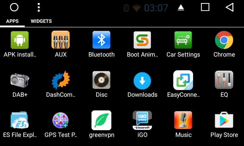 Android 6.0 Marshmallow Car Stereo display