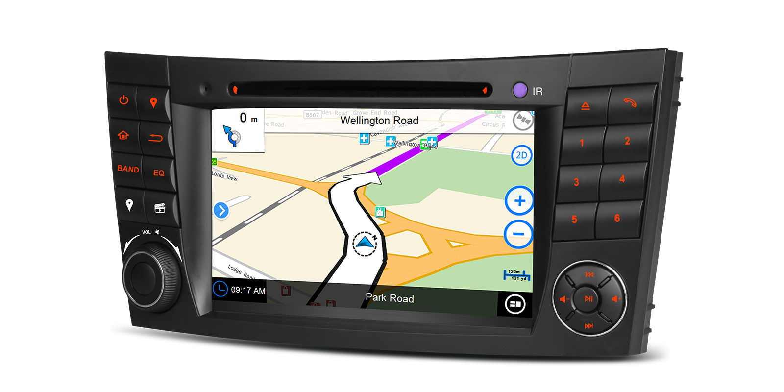 Mercedes WinCE Car Stereo with Kudos Maps