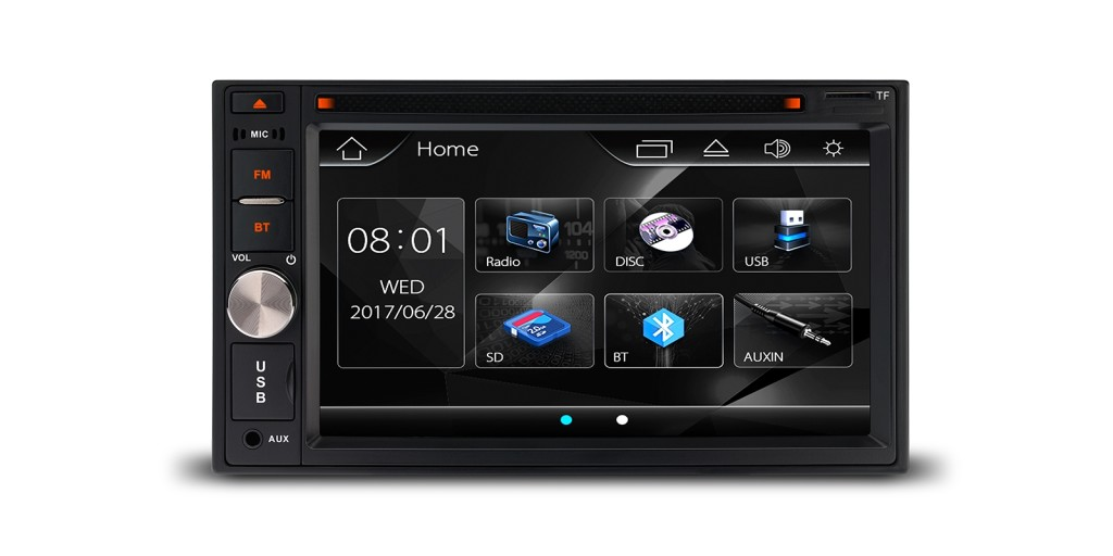 """6.2"""" HD Digital TFT Touch Screen Double Din Stereo"""